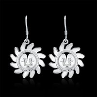 Wholesale European and American Fashion Jewelry Silver Jewelry Earrings Sunflower Smile Creative Fashion Boutique Explosion Earrings