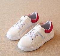 Nouvelle marque 2016 respirant garçons et filles PU lacets enfants Designers Chaussures Sneaker blanc caoutchouc Outsole Mode princesse enfants Chaussures ETX17