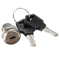 Wholesale 2 Sets Zinc Alloy Electronic On Off Tubular Terminals Key Keylock Switch Lock Keys set Top Quality