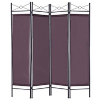 Wholesale 4 Panel Room Divider Privacy Folding Screen Home Office Fabric Metal Frame
