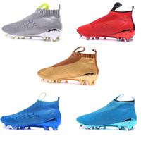 Wholesale 2016 new arrival no lace soccer shoes Ace purecontrol soccer boots Pure Control Soccer Cleats Original Quality Football Shoes