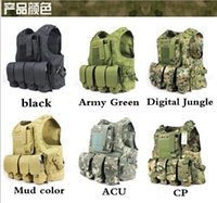airsoft products - Hot New Hunting Military Airsoft MOLLE Nylon Combat Paintball Tactical Vest CS Outdoor Products Hunting Vest