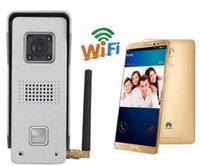 Wholesale free ship Wifi Doorbell WiFi Wireless Video Door Phone intercom Doorbell Peehole Camera door entry system door intercom