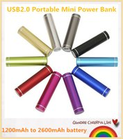 Wholesale Hot Sell Universal Cylinder Mini Power Bank mAh Portable USB2 Charger for Mobile Phone