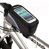 Wholesale 1 L Cycling Bike Bicycle Bags Panniers Frame Front Tube Bag For Cell Phone MTB Bike Touch Screen Bag