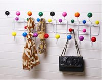 Wholesale Vitra Eames Hang It All Rack Wall hangers Home Storage Organization fashion Storage Holders Racks candy color hat coat clothes hanging rack