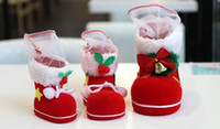 Wholesale 25 pieces Christmas Boots Christmas Tree Decoration Hanging Xmas Bag Candy Box for Kids Children Party Santa Boot Shoes Stocking