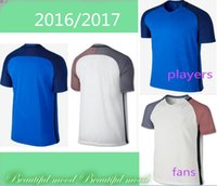 Wholesale Thai quality Short Soccer Jerseys And Men Soccer Jersey Shirts blue White Football Jerseys