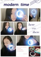 Wholesale LED selfie ring light Flash spotlight circle round fill in light lamplight speedlite Enhancing photography for smartphone