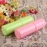 bath drain cover - 1pc Portable Travel Bath Toothbrush Toothpaste Holder Cover Protect Case Box Cup Colors
