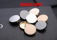 Wholesale 100Pcs Metal Mirror Button Gold Black Silver Button for Shirt Windbreaker Jacket Overalls Suits Sweaters Coats Trousers