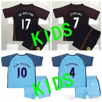 benson jersey - Benson Manchester City Kids Soccer Jerseys Home blue Football Shirts Aguero NASRI De Bruyne SILVA away black short sleeve sports