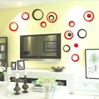 bathroom wall colors - Fashion Hot Mixed colors Indoors bathroom home Decoration Circles Creative Stereo Removable D DIY Wall Stickers JF