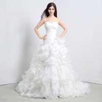 arrival details - Mermaid Tiered Organza Wedding Gowns Real Photos Ruffles Cheap New Arrival Bridal Wedding Dresses