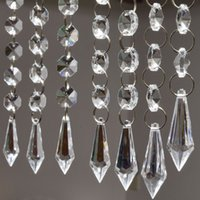 Wholesale 6 strands quot Acrylic Crystal Garland Chandelier Hanging Bead Chains