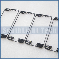 Wholesale 100 Excellent Quality LCD Frame With Hot Glue For Iphone G Black White Middle Chassis Bezel Bracket with liquid gule Replacement Parts