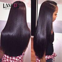 Wholesale Brazilian Peruvian Indian Cambodian Malaysian Virgin Human Hair Weave Straight Bundles Double Weft Cheap Brazillian Hair Extensions