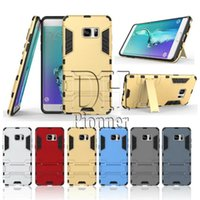 Wholesale For Galaxy Note7 Case Shockproof Robot Armor Hybrid Rugged Rubber Shell Kickstand Back Case Cover for Iphone Samsung Galaxy S7 S6 Edge
