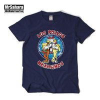 bad shop - t shirt women Breaking bad LOS POLLOS HERMANOS short sleeve T shirt male Fried chicken shop