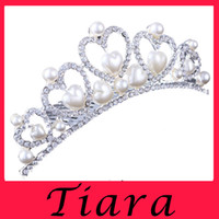 atmosphere water - 2016 Sales of high grade atmosphere high end crown head band Love pearl crystal diamond tiara Fashion bridal wedding jewelry