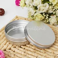 Wholesale 10pcs ml Empty Aluminium Cosmetic Pot Lip Balm Jar Tin Containers Screw Lid for Cream Ointment Hand Cream Storage