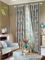 Wholesale Custom Made AB Side To High light shielding Blackout Curtain Flower Printed Living Room Window Curtain