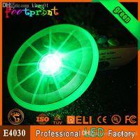 Wholesale Luminous fashion glowing pet flying disc LED flashing dog frisbee cool shining toy