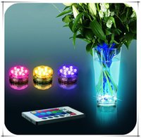 Wholesale RGB Colors Submersible Vase Light Remote Controlled LED Light for Gift Christmas Decoration Lights Wedding Party light