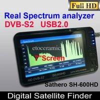 Sathero SH-600HD DVB-S2 Satélite Digital Buscador de medidor Buscador Sat HD con pantalla LCD de 7 pulgadas, USB 2.0, salida HDMI analizador de espectro