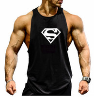 Wholesale Superman gym vest Animal cotton tank top bodybuilding and fitness clothing muscle sport top men Sleeveless tops gymshark