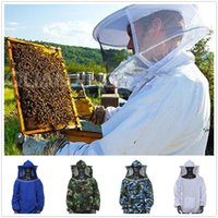 bee keeping equipment - Beekeeping Jacket Veil Anti bee Protective Safety Clothing High Quality Smock Equipment Supplies Bee Keeping Hat Long Sleeve Top