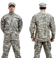 Cheap Wholesale-BDU ACU Camouflage suit sets Army Military uniform combat Airsoft uniform -Only jacket & pants