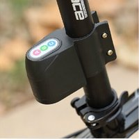 Wholesale Excellent Security Alarm Security Bicycle Steal Lock Bike Bicycle Alarm Black RED Without Battery