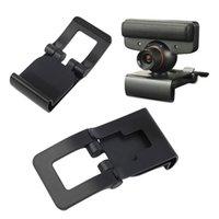 2016Black TV Clip Soporte ajustable del sostenedor del soporte del montaje para Sony Playstation 3 PS3 Move Controller cámara del ojo al por mayor