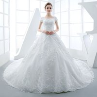 accord cross - Love only according to the new spring Princess Wedding dress a shoulder luxury long tailed slim Korean bride