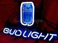 american shopping stores - NEON SIGN For American Budweiser Light Bud Beer Brand Real GLASS Tube BEER BAR PUB store display Shop Light Signs quot