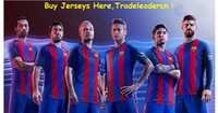 Wholesale Barcelona leo Messi Neymar jr a Iniesta Suarez Thailand thai Quality Men and Women Soccer Jerseys Home Football Shirt
