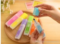 Wholesale Japan and South Korea stationery creative Candy colored large capacity highlighters Yellow Orange green blue purple Red MIXED ORDER IS OK