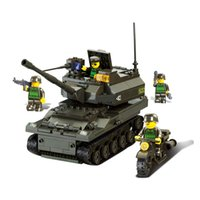 army soldiers toy - Sluban M38 B9800 Army Troops K Tank Howitzer Children Building Blocks with Minifigures Soldier Toys construction toys