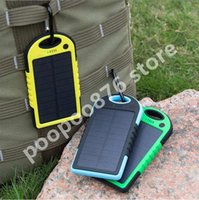Wholesale Portable Solar Charger Power Bank Panel mah mah For Moblie Phone CellPhone Smartphone USB Ports Waterproof Outdoor