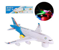 airplane models - Bump and Go A380 Airplane Airbus Electric Toy Model With Flashing Lights And Sound