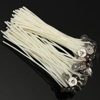 Wholesale 100x120mm Candle Wicks Pre Waxed PreTabbed With Sustainers Cotton Coreless