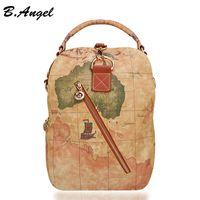 Nouveau mode vintage haute qualité monde sac à dos sac à dos sac à dos femmes sac à bandoulière en cuir sac à dos prix en dollars