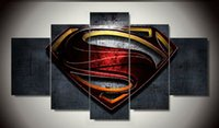 abstract art paintings images - pieces Superman Wall art Paintings movie HD images print on canvas for kid s living room Decoration F