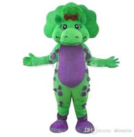 baby dinosaur pictures - Ohlees Actual Picture Real baby bop green dinosaur Mascot Costumes Character For Halloween Party Activity Fancy Christmas Adult Size dress