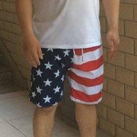 american flag boardshorts - American Flag Shorts Mens Swim Surf Board Short Pants Man Boardshorts Summer Beach Bermuda Quick Dry Brand Clothing Silver