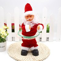 Wholesale New Creative Electric Santa Claus Christmas Toy Hu La Hoop Music Funny Toy Christmas Decorations Gift