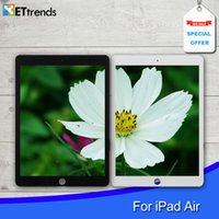 Wholesale Touch Glass Screen Assembly for iPad air digitizer glass Panel screen With Home Button MAdhesive by DHL
