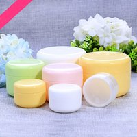 Wholesale g Cream Jars Screw Caps five color Plastic Makeup Sub bottling Empty Cosmetic Container Small Sample Mask Canister