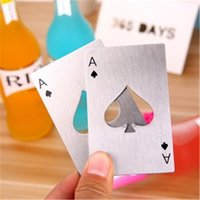 beer bootle - Poker Bottle Opener Card Stainless Steel Thick Never Out of Shape Cool Styles Design Bar Tools Soda Beer Bootle Cap Opener Wedding Party